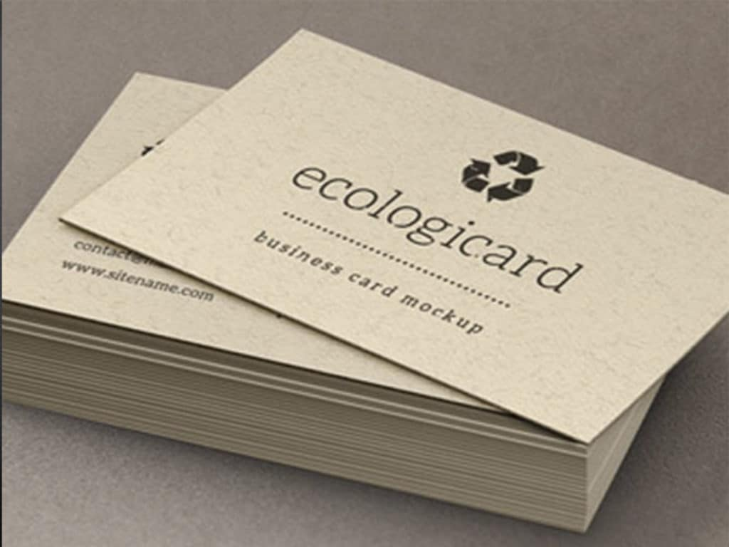 Tarjeta de presentación ecológicas