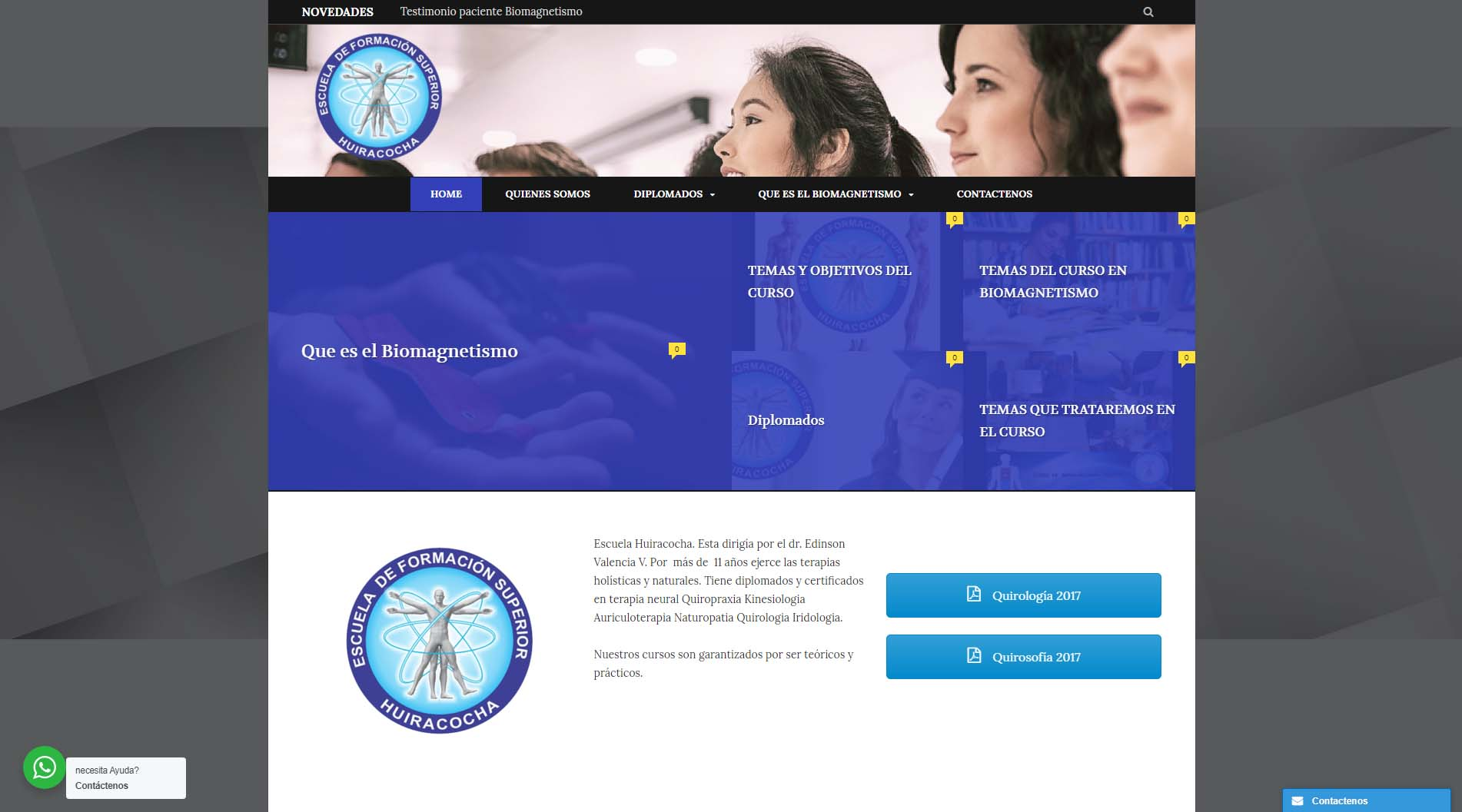 Diseño web bio magnetismo médico