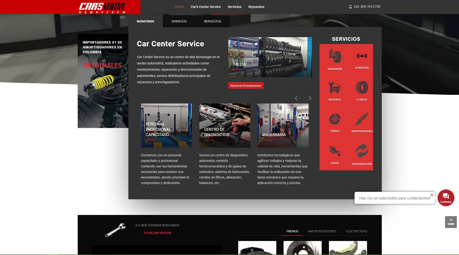 Diseño web Car Center Service