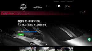 Diseño de tienda virtual Comfort Cars Detailing