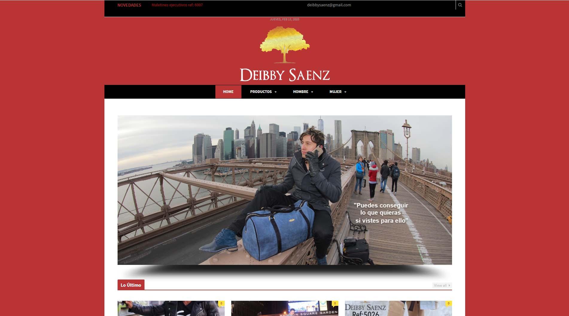 Diseño web deibby saenz