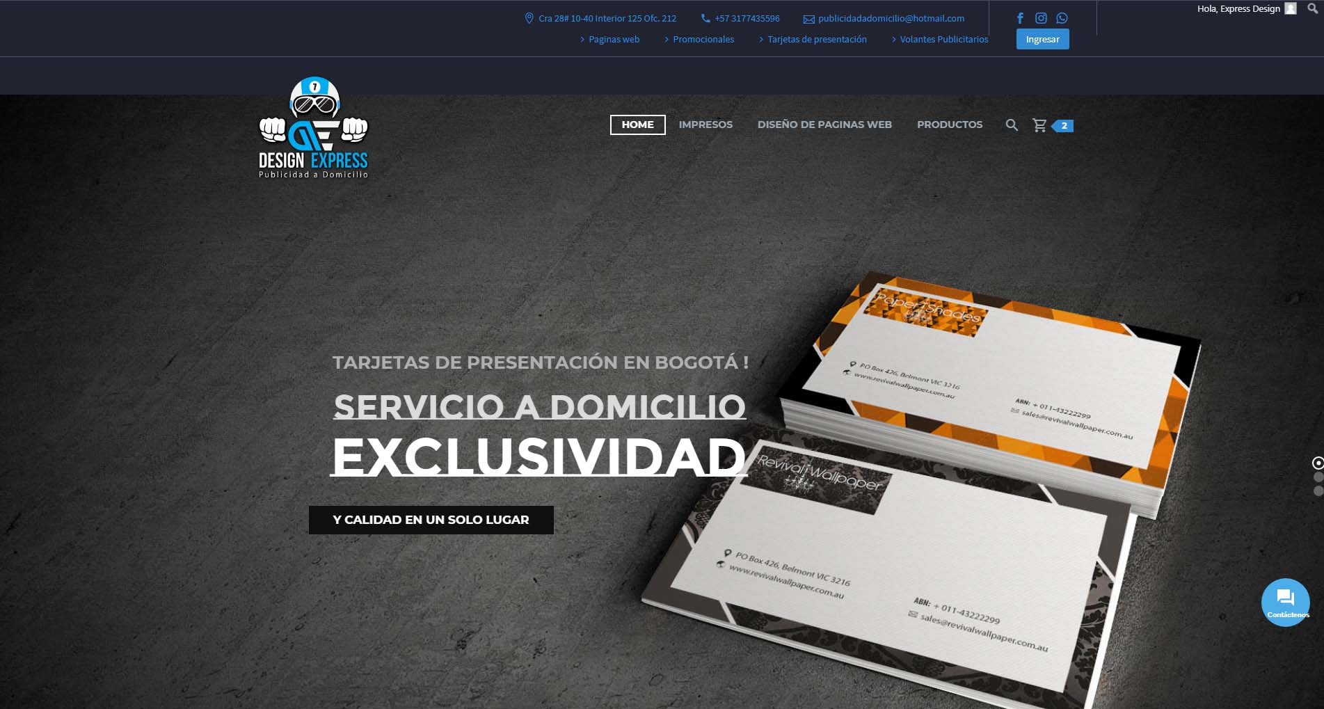 diseño web design express