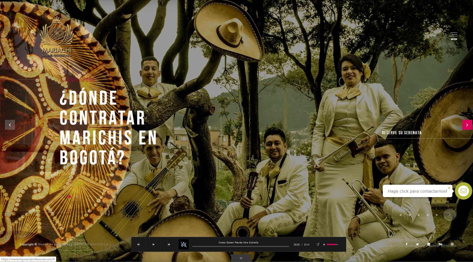 diseño web mariachi juvenil profesional